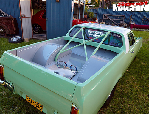 green pickup car